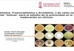 Citrus Genómica, transcriptómica y Arrufatina, o de como usar las -omicas- para el estudio de la precocidad en la maduración en cítricos